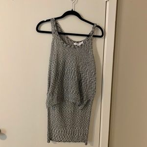 BCBGeneration NWT high low knit top large grey